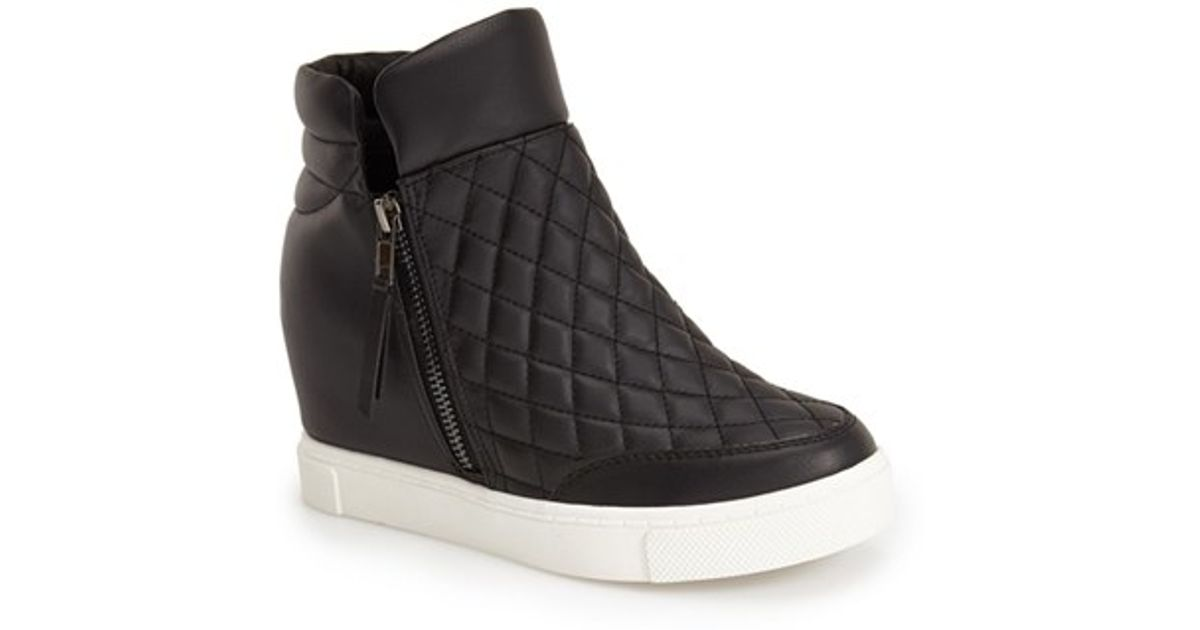 7dcf0a4e4cf Lyst - Steve Madden  linqs  Hidden Wedge Sneaker in Black