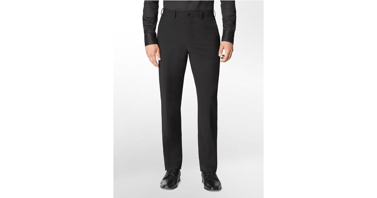 Calvin klein x fit ultra slim fit black suit pants in for Calvin klein x fit dress shirt