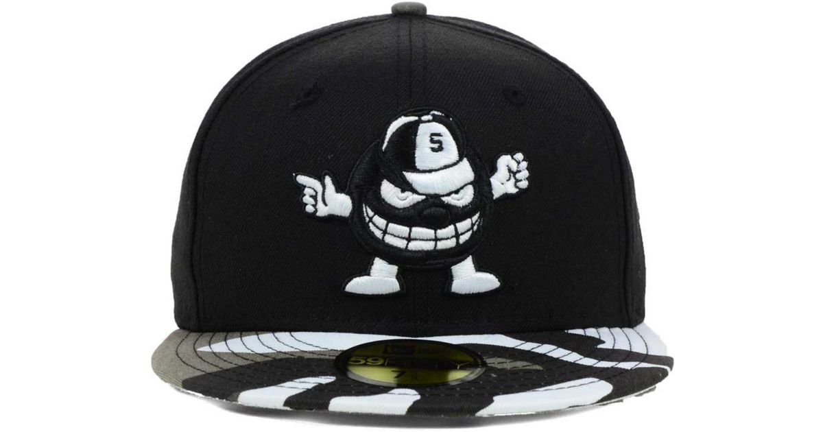 brand new 4b2f7 e47f3 ... where can i buy lyst ktz syracuse orange urban camo 59fifty cap in black  for men