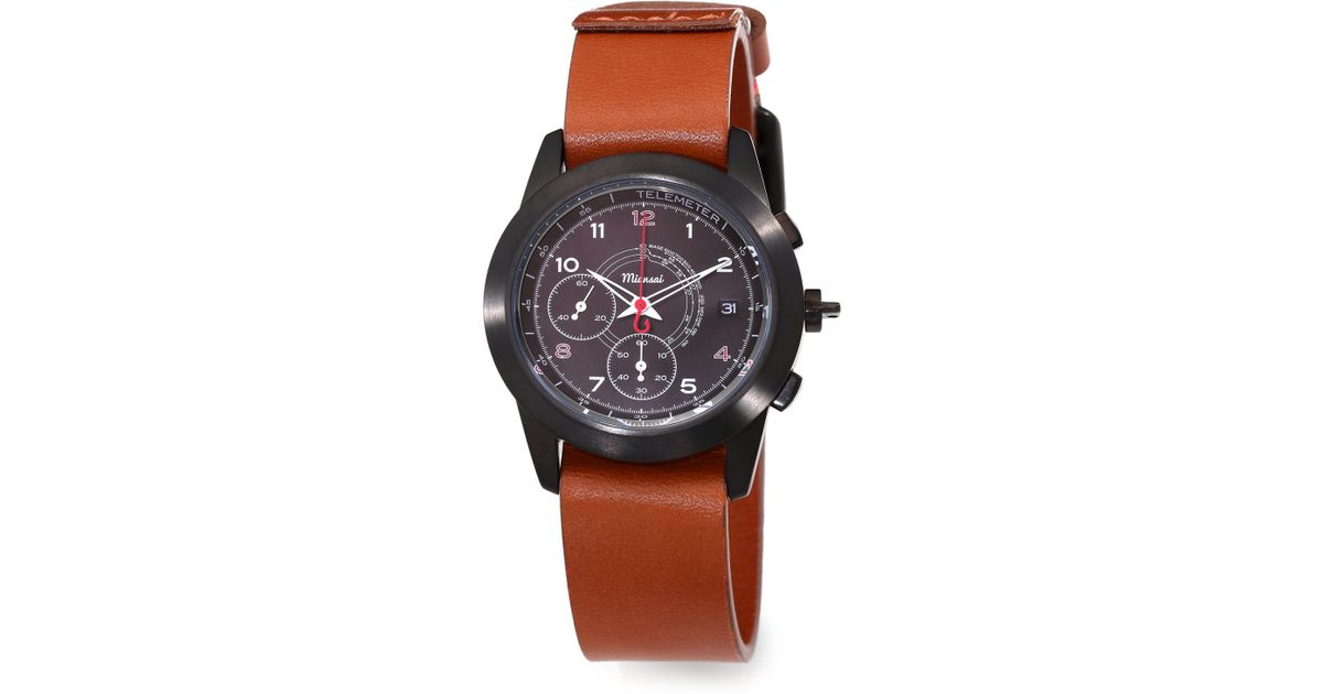 miansai m2 stainless steel in brown for lyst