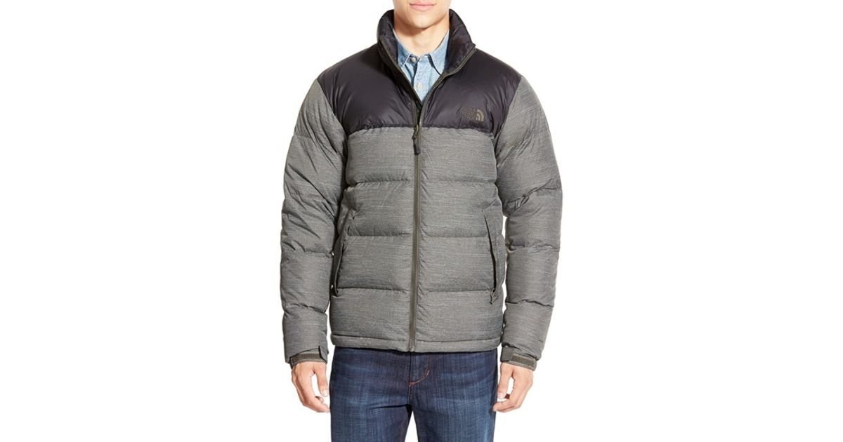 ... where to buy lyst the north face nuptse packable quilted goose down  jacket green in gray 8409a1f7d