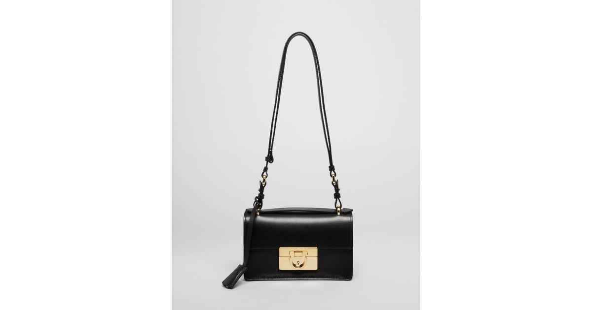 Lyst - Ferragamo Shoulder Bag - Aileen Mini in Black c54c4650df7c0