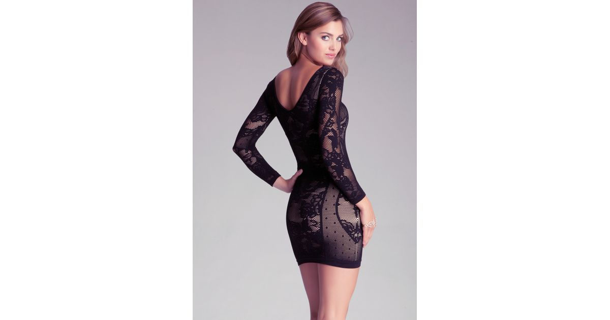 Bebe Black Jordana Lace Dress Lyst