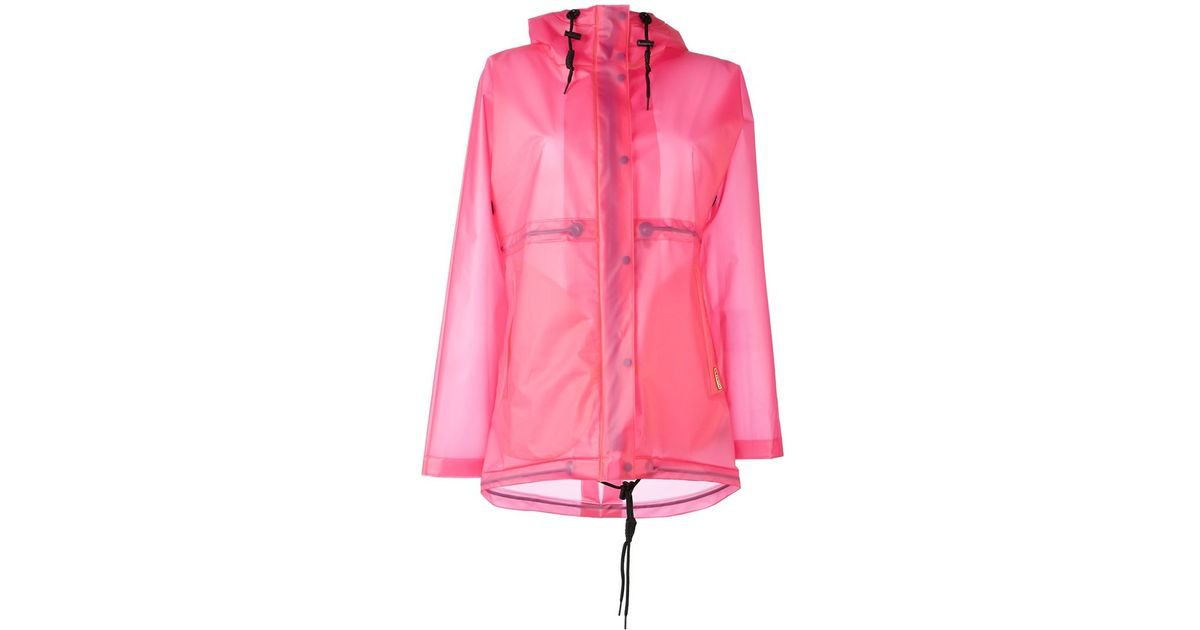 classic style of 2019 online sale luxuriant in design HUNTER Pink Hooded Raincoat
