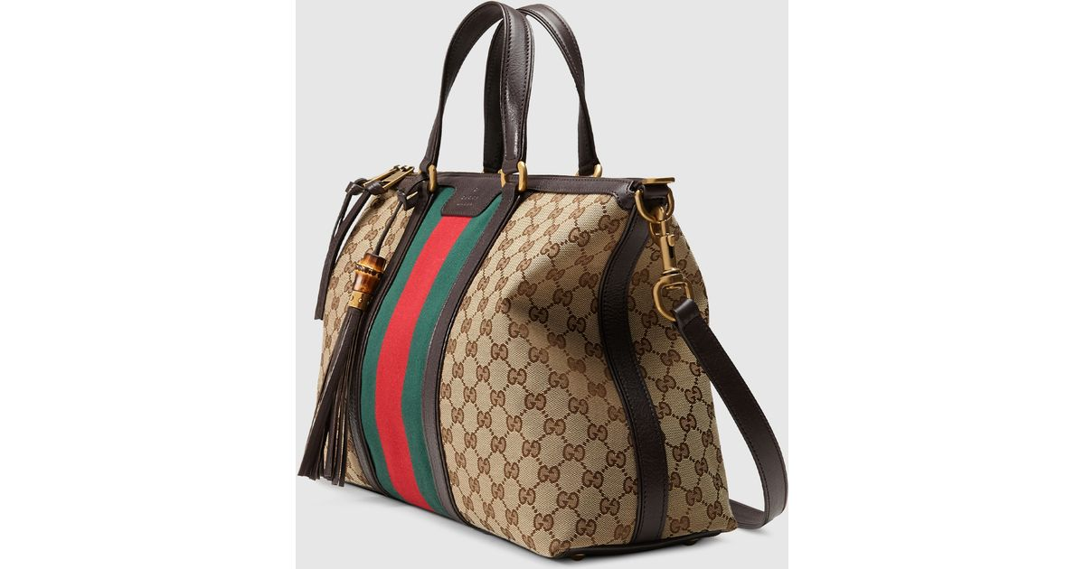 9c61d2e14b Gucci Brown Rania Original Gg Canvas Top Handle Bag