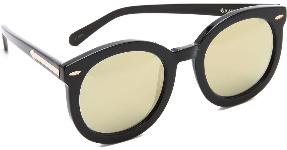 9e19e6ce9f2 Karen Walker Superstars Super Duper Strength Sunglasses - Black gold in  Black - Lyst