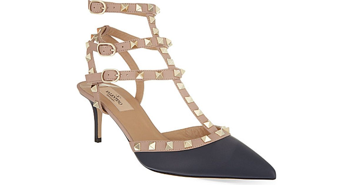 Valentino Rockstud 65 Leather Courts in