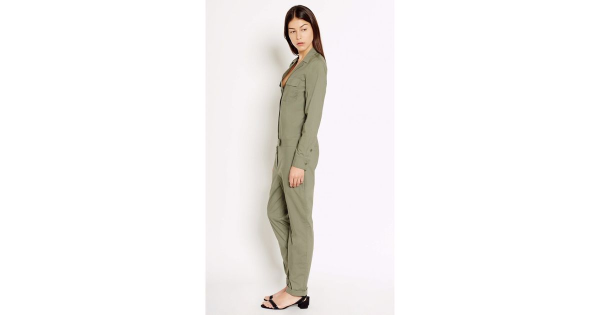 18be91e2b99e Lyst - Equipment Blaise Cotton Jumpsuit in Green
