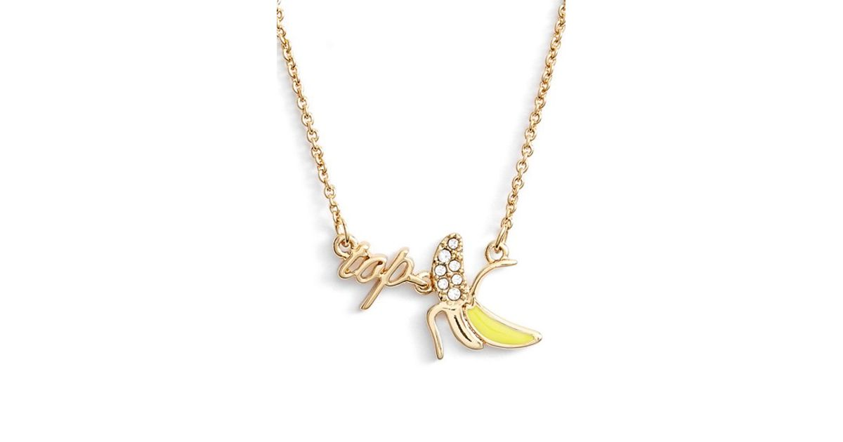 53885d8478456 kate spade new york - Metallic 'things We Love - Top Banana' Pendant  Necklace - Crystal/ Gold - Lyst