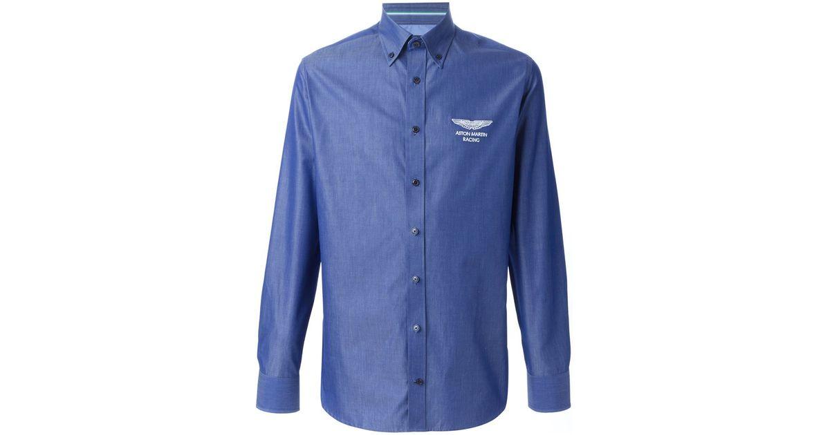 Lyst Hackett Aston Martin Racing X Shirt In Blue For Men - Aston martin shirt