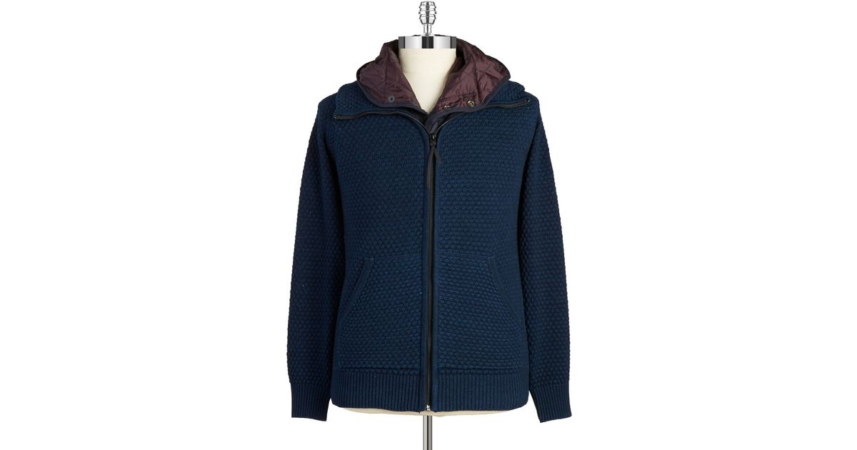 G-star raw Knit Zip Front Jacket in Blue for Men Lyst