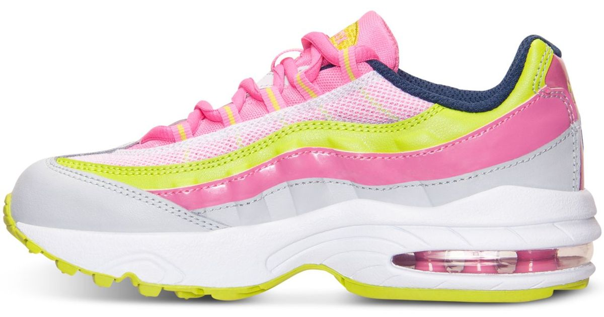 630d46192e3 Lyst - Nike Little Girls  Air Max 95 Running Sneakers From Finish Line in  Pink