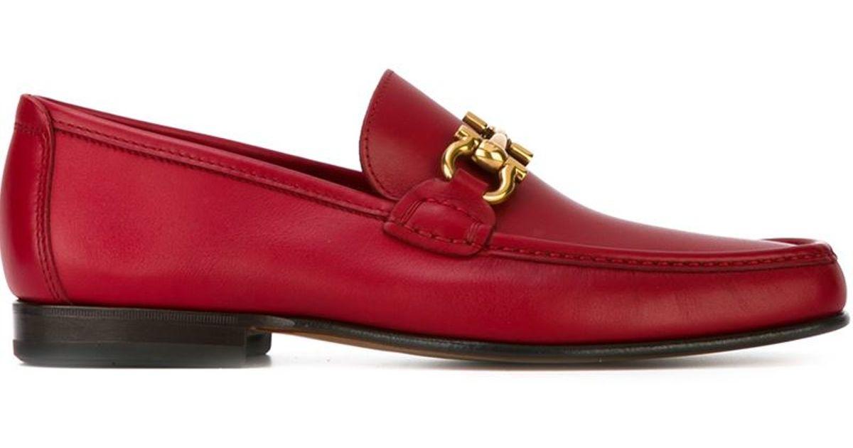 Ferragamo Leather Gancini Bit Loafers