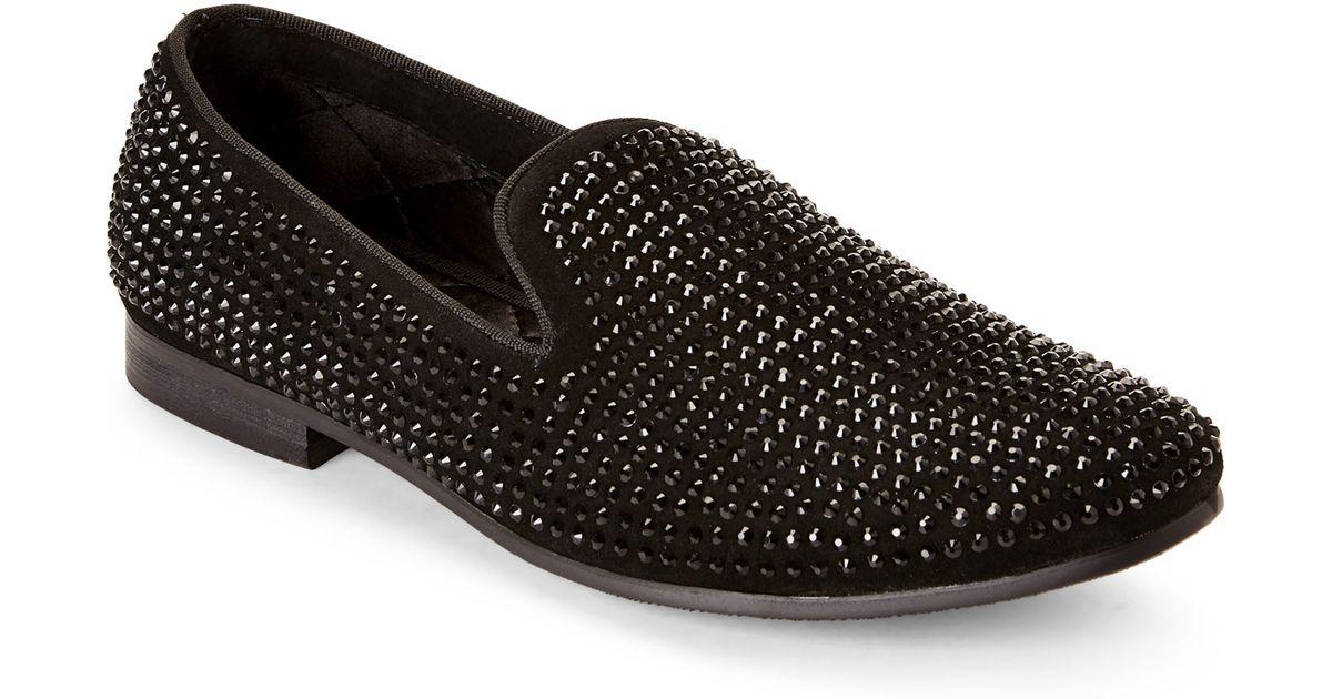44785fa6de7 Steve Madden Black Caviarr Smoking Loafers for men