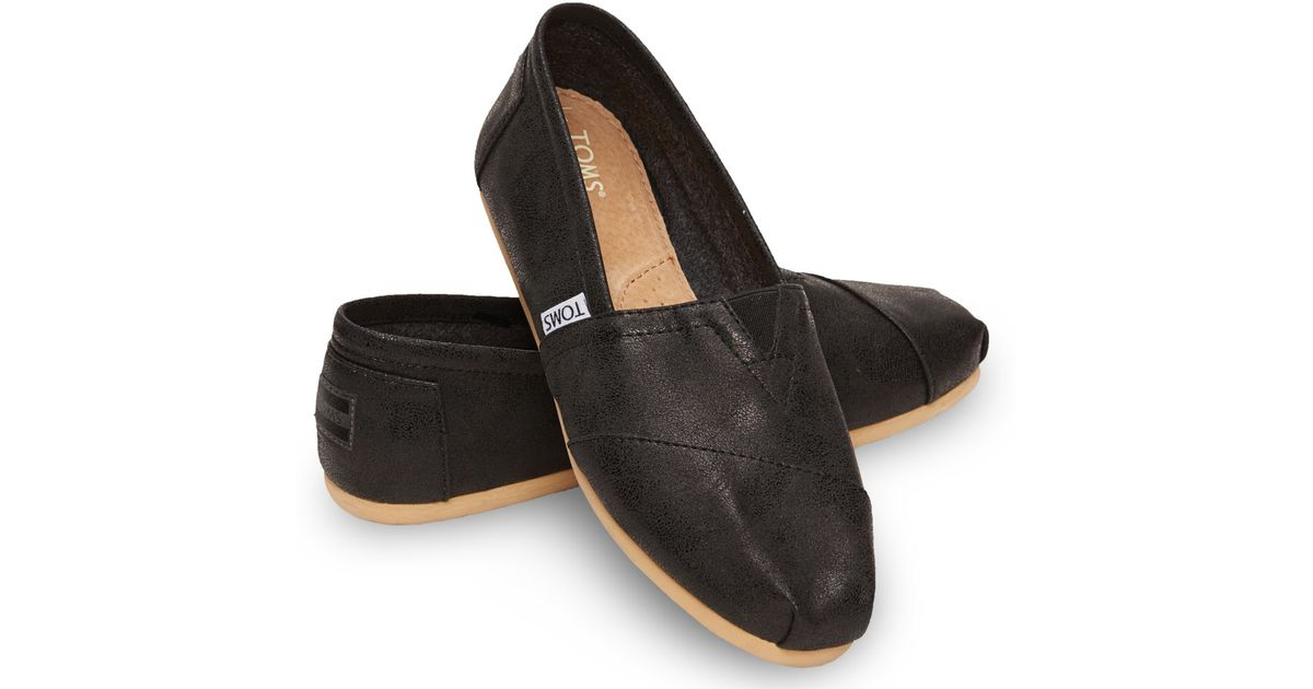 2f94f2d94e3 TOMS Black Metallic Synthetic Leather Women's Classics