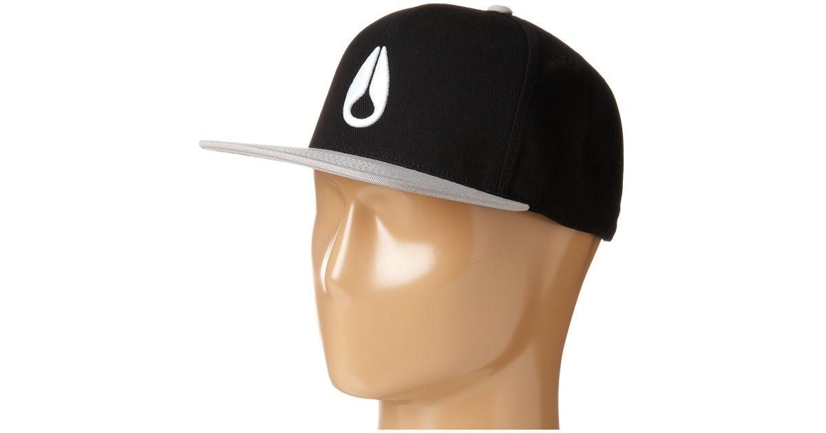 336fcc406 Nixon Black Simon Snapback Hat