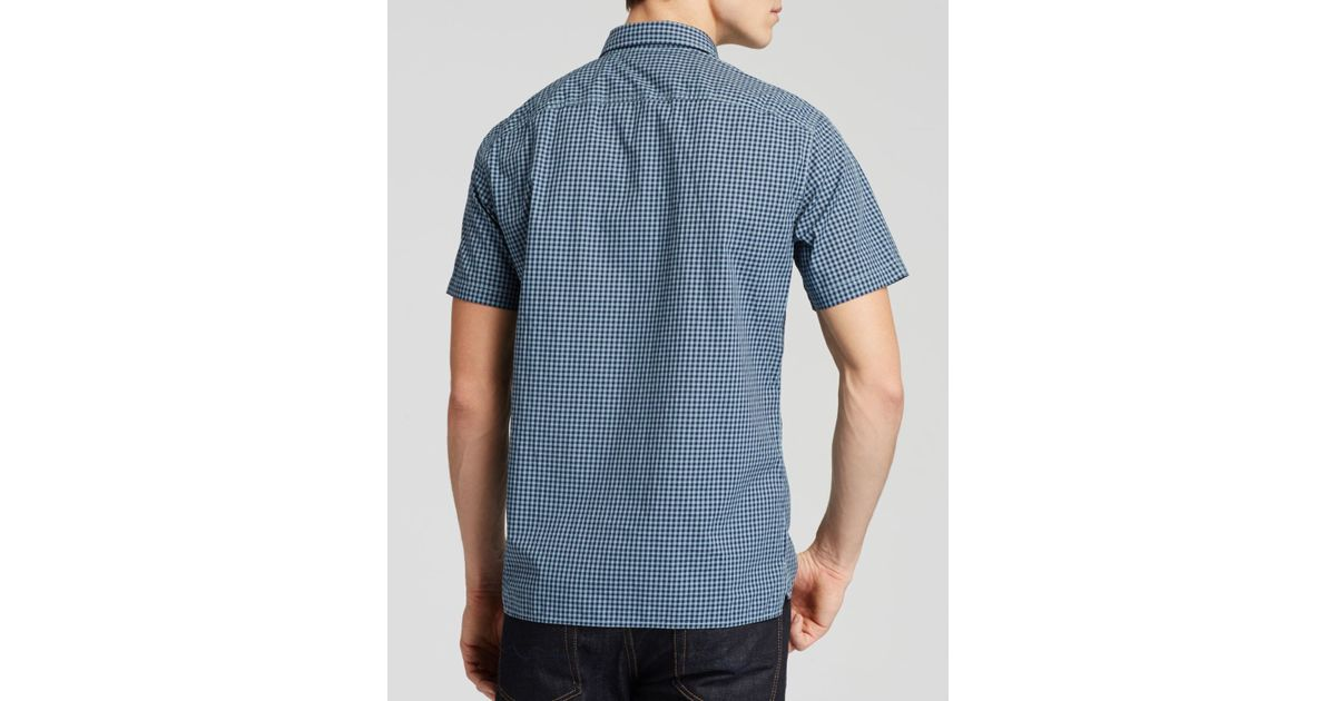 Lyst Vince Gingham Check Short Sleeve Button Down Shirt
