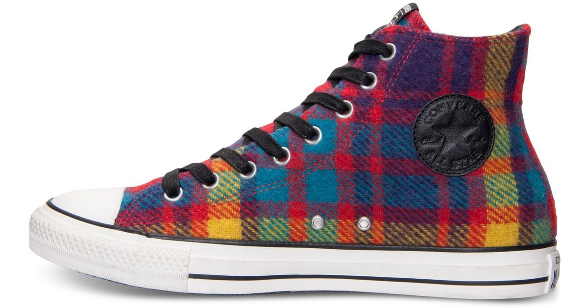 9057e73b69a364 Lyst - Converse Men s Chuck Taylor All Star Hi Woolrich Casual Sneakers  From Finish Line for Men