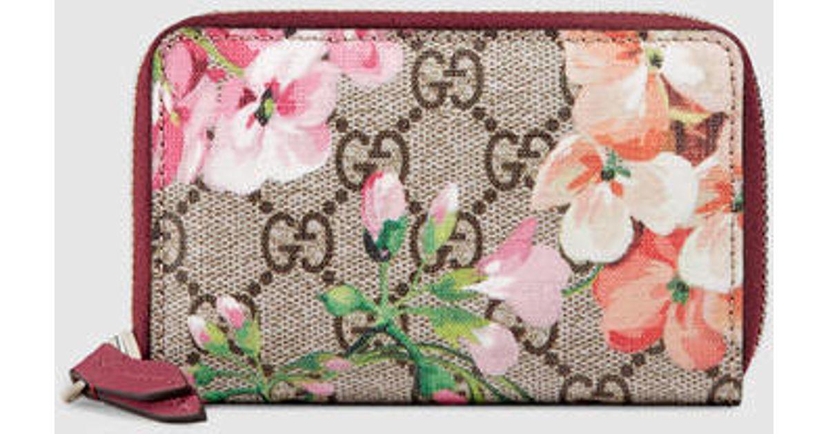 19b06b64500d34 Gucci Gg Blooms Card Case - Lyst