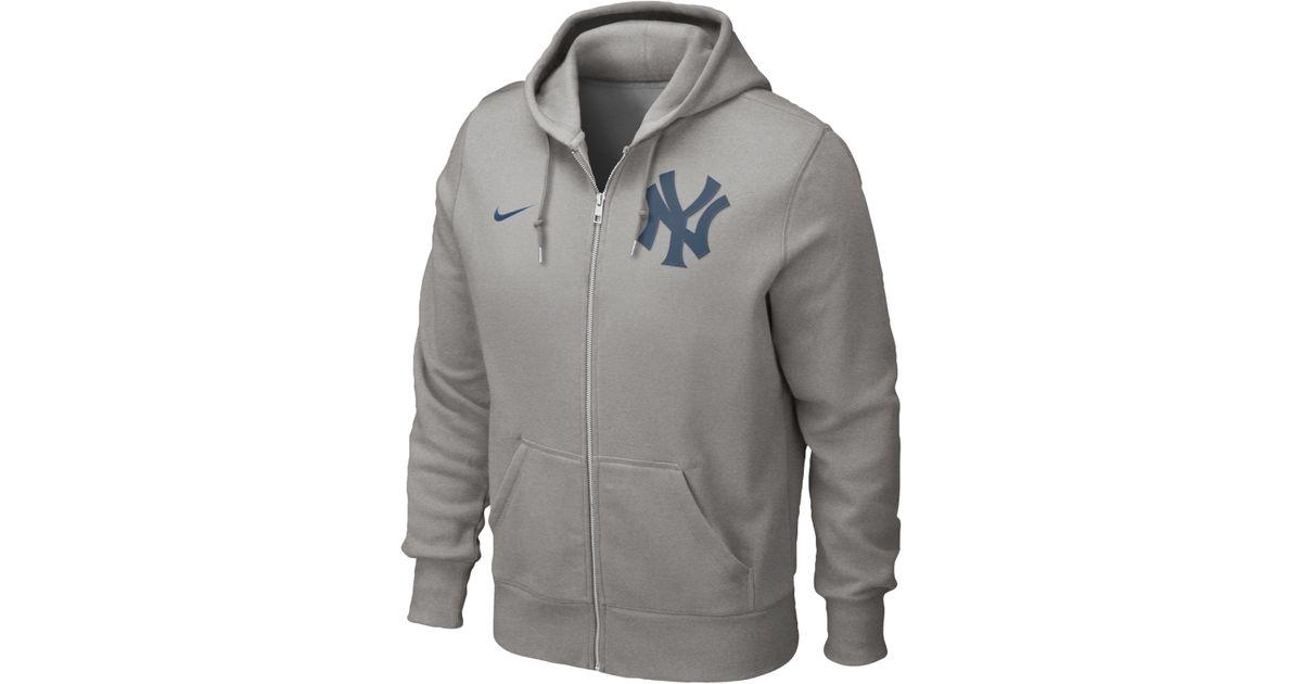 new arrival 16b12 06721 Nike Gray Men'S New York Yankees Full-Zip Hoodie Sweatshirt for men