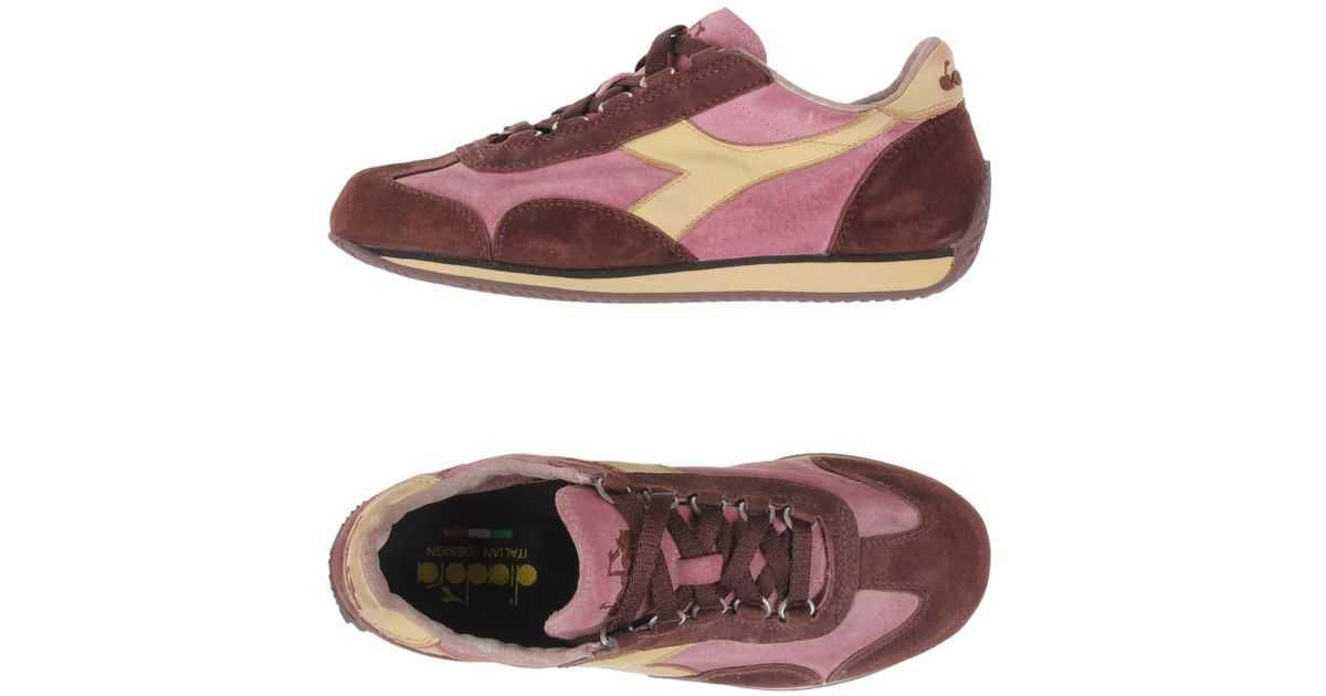 diadora low tops trainers in purple lyst