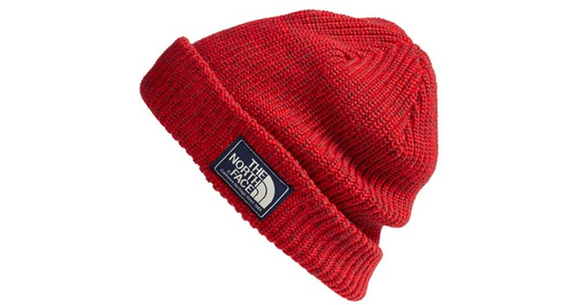 0b4199552a7 Lyst - The North Face  salty Dog  Beanie in Red for Men