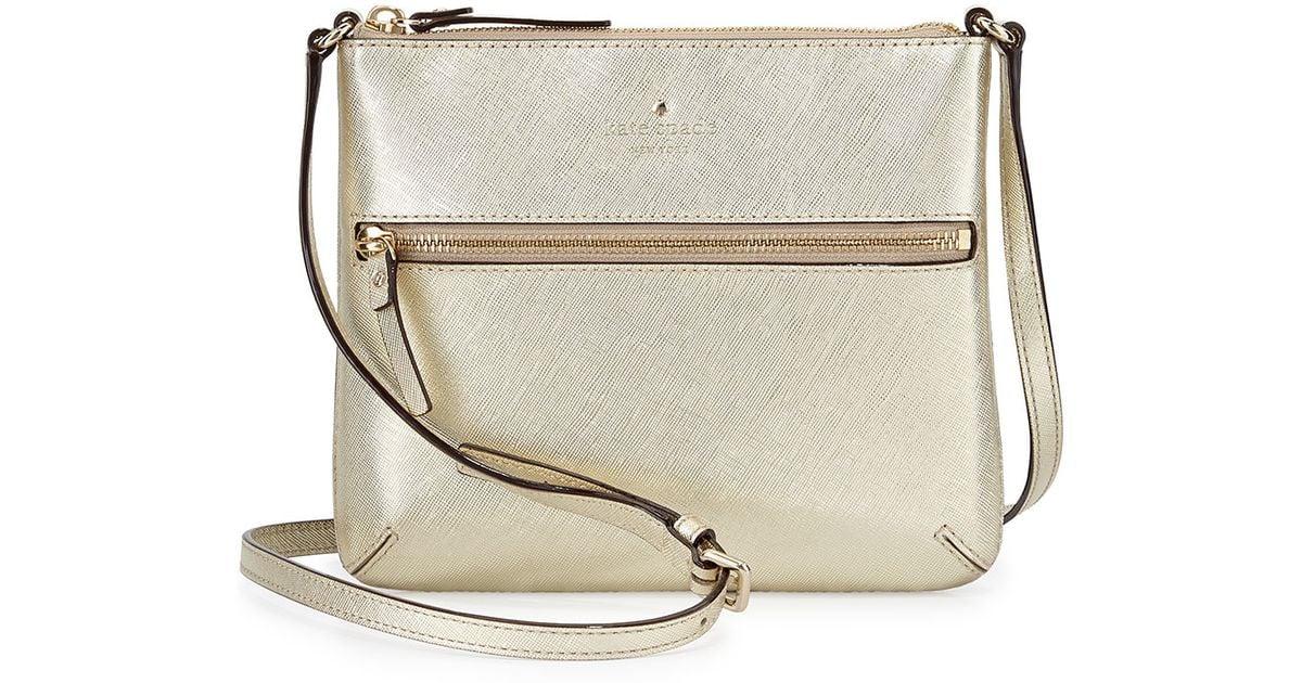 f24f6b364bcc Lyst Kate Spade Cedar Street Tenley Crossbody Bag In Metallic