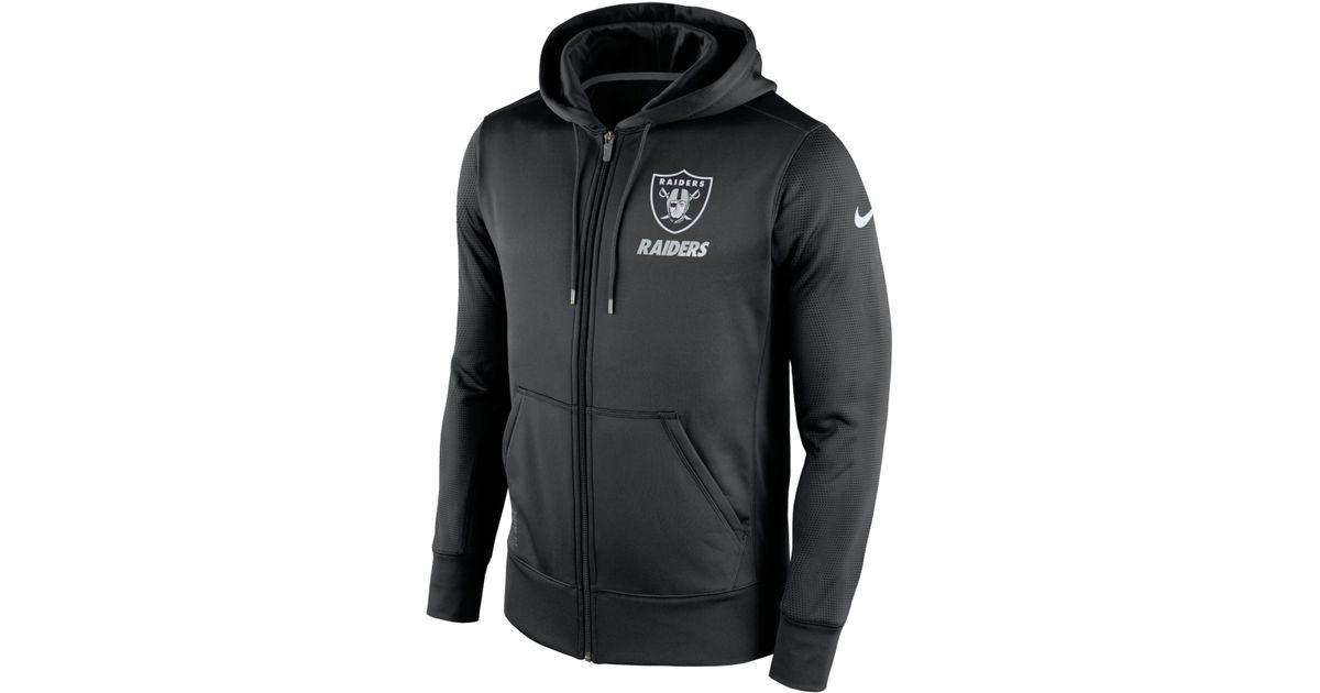 9b4d4af0e9c2 Lyst - Nike Men s Oakland Raiders Sideline Ko Fleece Full-zip Hoodie in  Black for Men