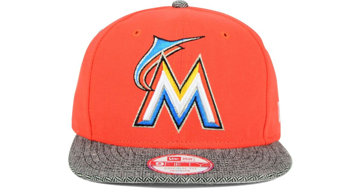 the latest 7bdee a396f ... switzerland lyst ktz miami marlins premium 9fifty snapback cap in  orange for men 4222c 141d5