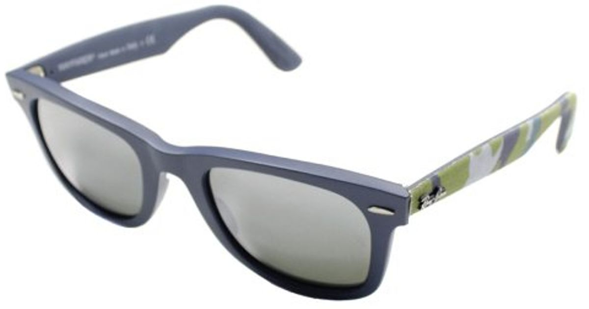 528fd36efea Lyst - Ray-Ban Rb 2140 606140 Matte Blue Military Green Plastic Sunglasses  in Blue