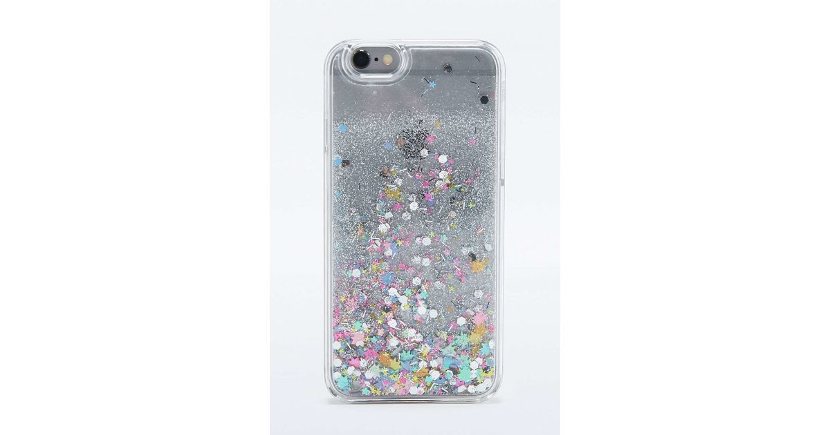 brand new 56263 e4e2b Urban Outfitters Metallic Glitter Time Iphone 6 Case