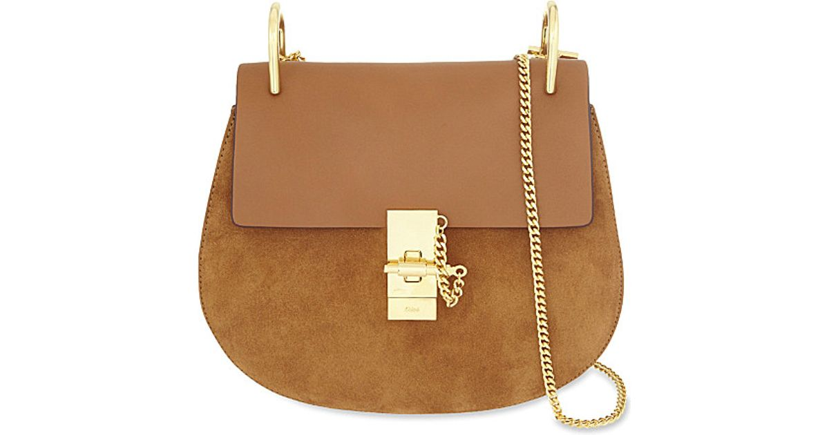 Chlo�� Drew Small Saddle Cross-body Bag in Brown (Caramel) | Lyst