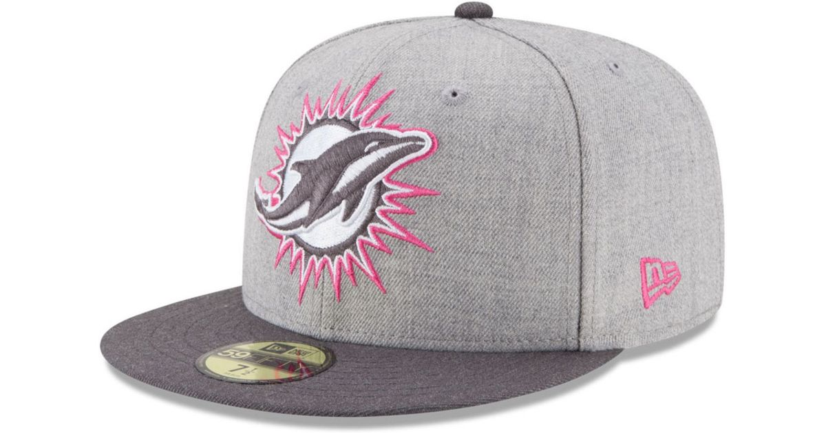 meet c0432 7ee81 KTZ Pink Miami Dolphins Breast Cancer Awareness 59fifty Cap for men