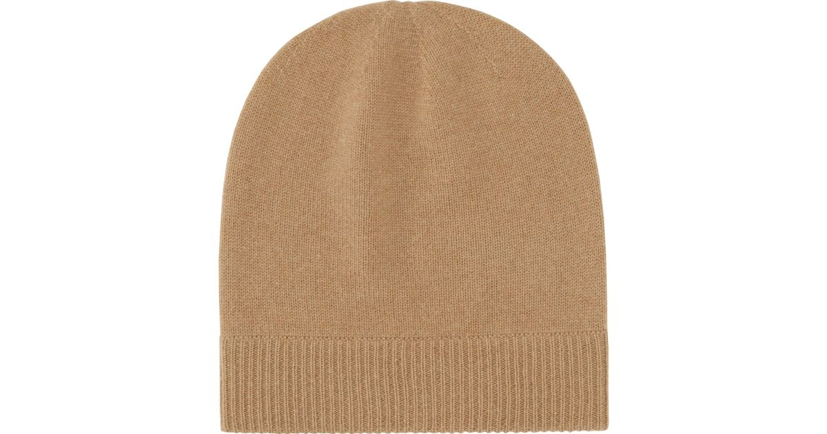 Uniqlo Cashmere Knit Beanie in Brown Lyst
