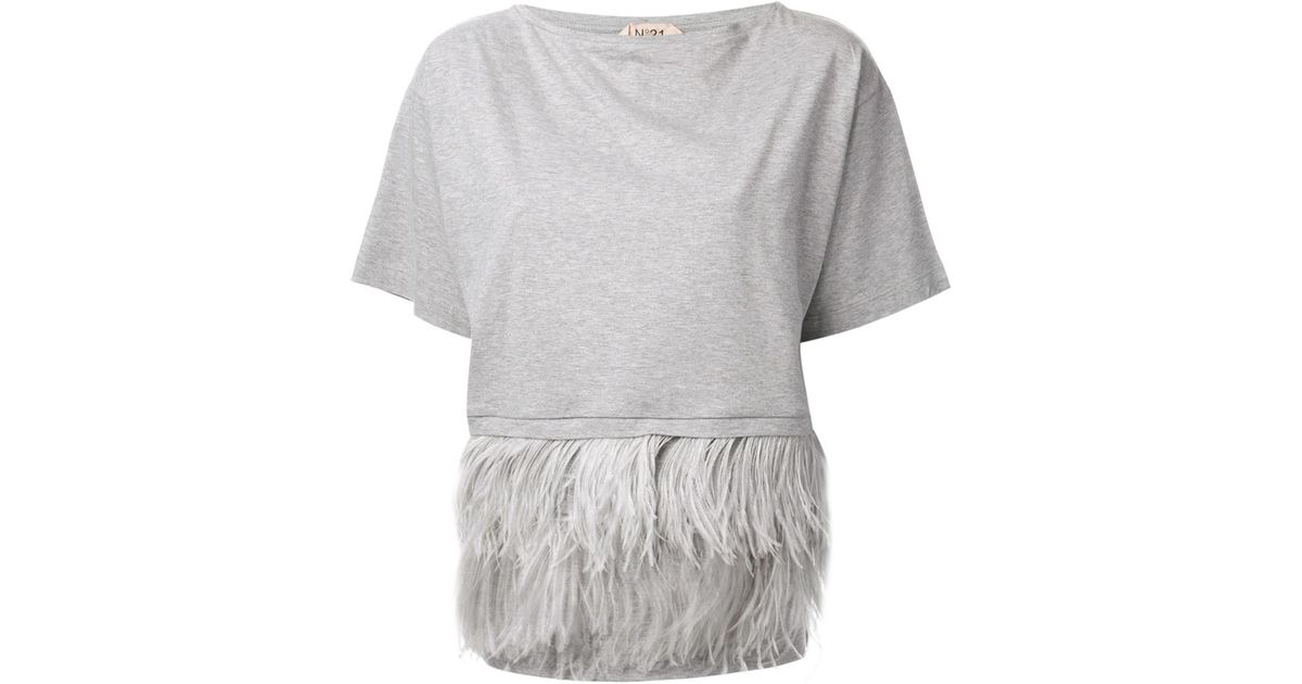 ostrich feather puff sleeve T-shirt - White N°21 Release Dates Sale Online New Styles nB2MPj1rl