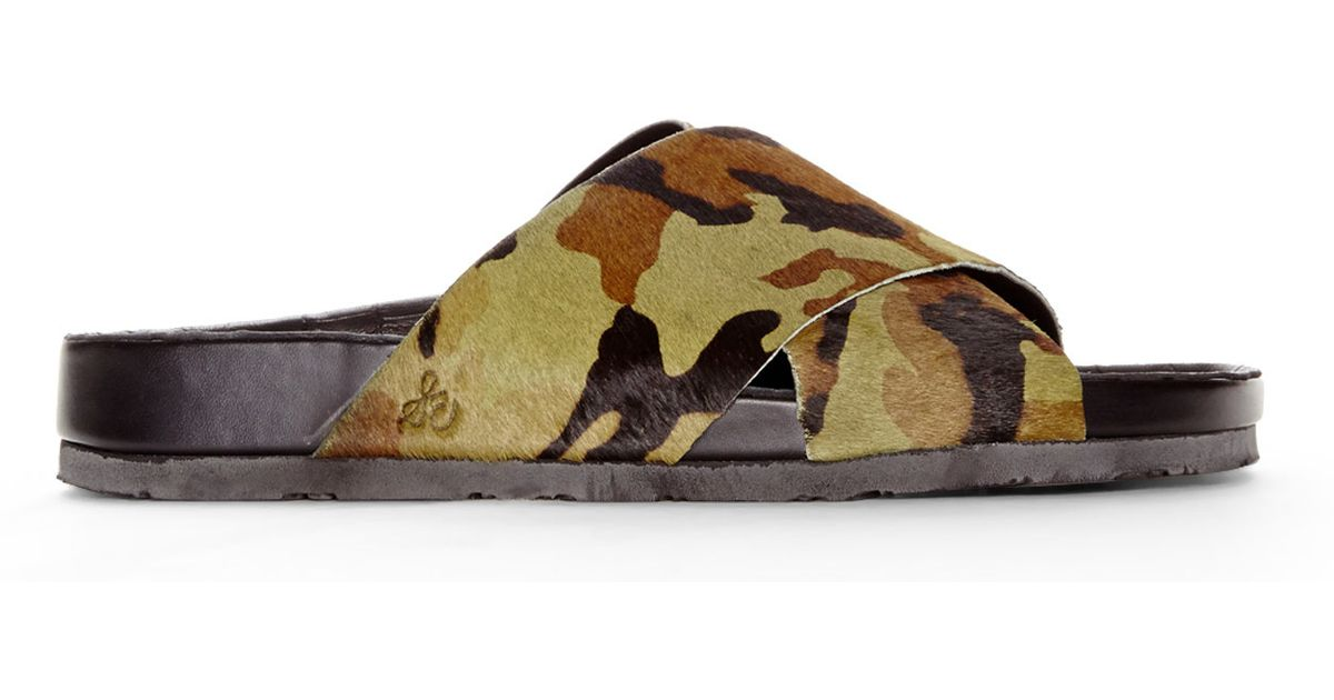 5b63c657761a Lyst - Sam Edelman Adora Camouflage Sandals in Green