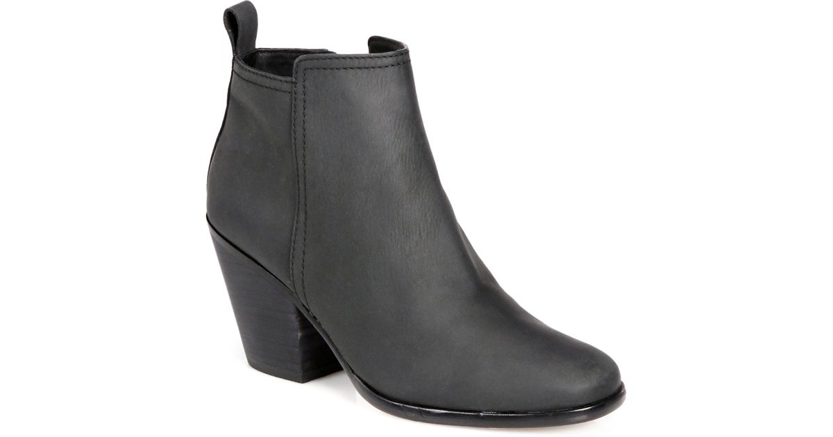 15df3d786bd Cole Haan - Black Chesney Leather Ankle Boots - Lyst