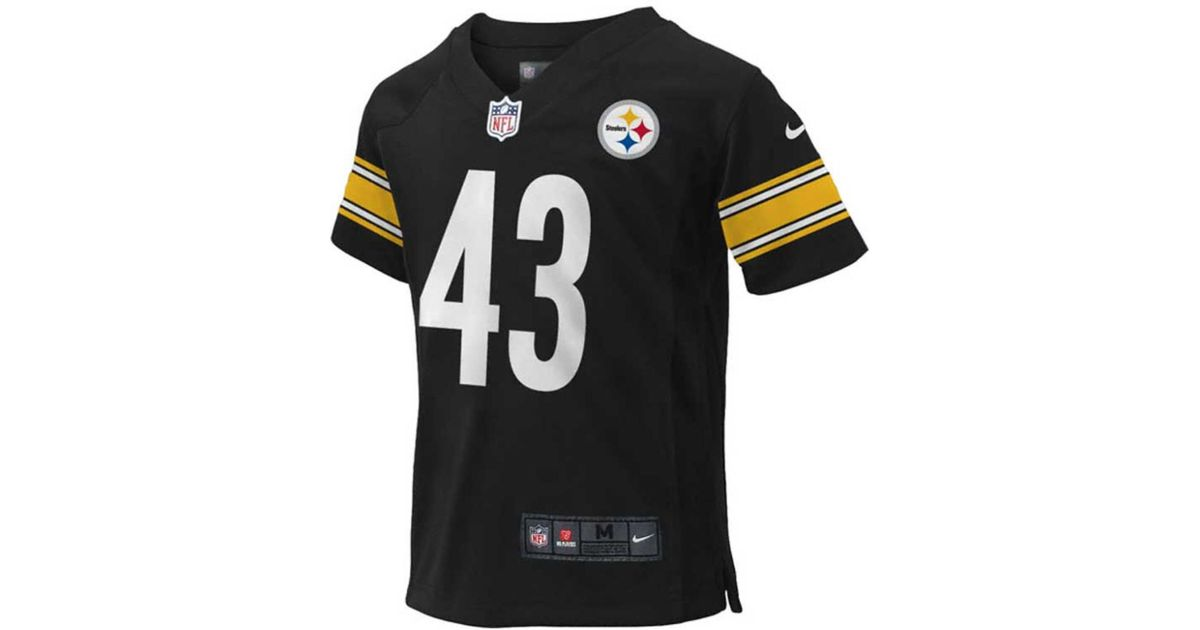 lowest price fd7e9 96be6 Nike - Black Little Boys' Troy Polamalu Pittsburgh Steelers Game Jersey for  Men - Lyst