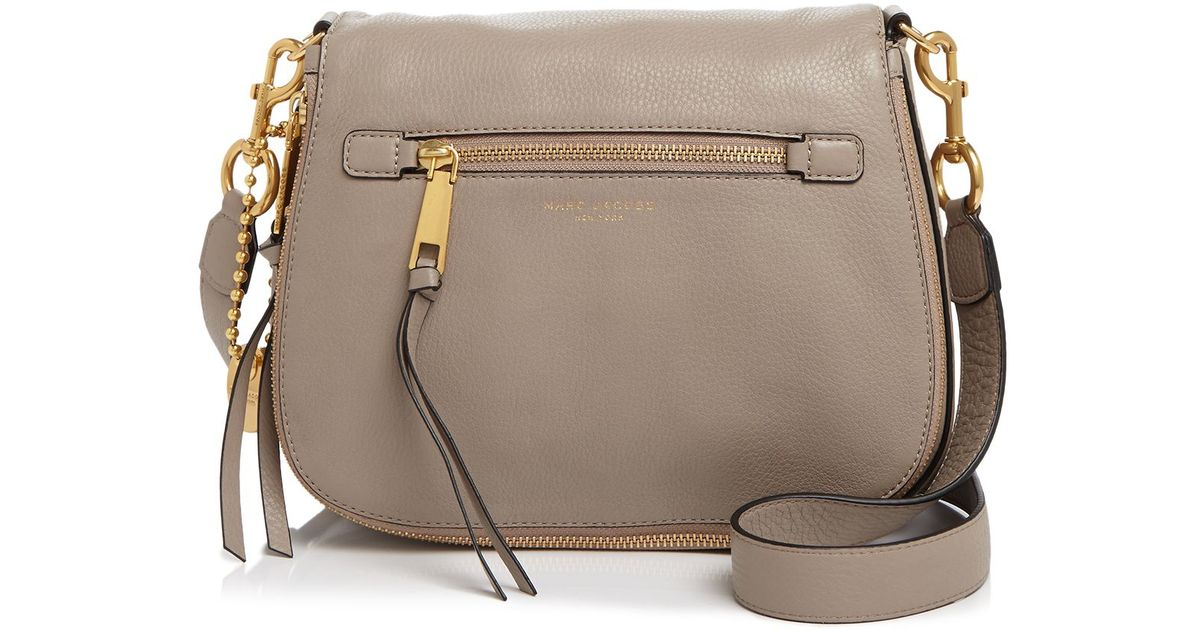 c3018d2bae8a Marc Jacobs Recruit Saddle Bag in Gray - Lyst