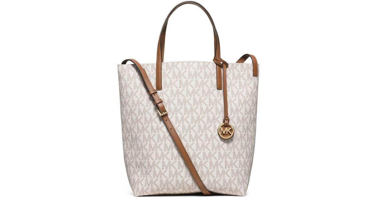 994455664bed Lyst - MICHAEL Michael Kors Hayley Large Convertible Tote Bag in White