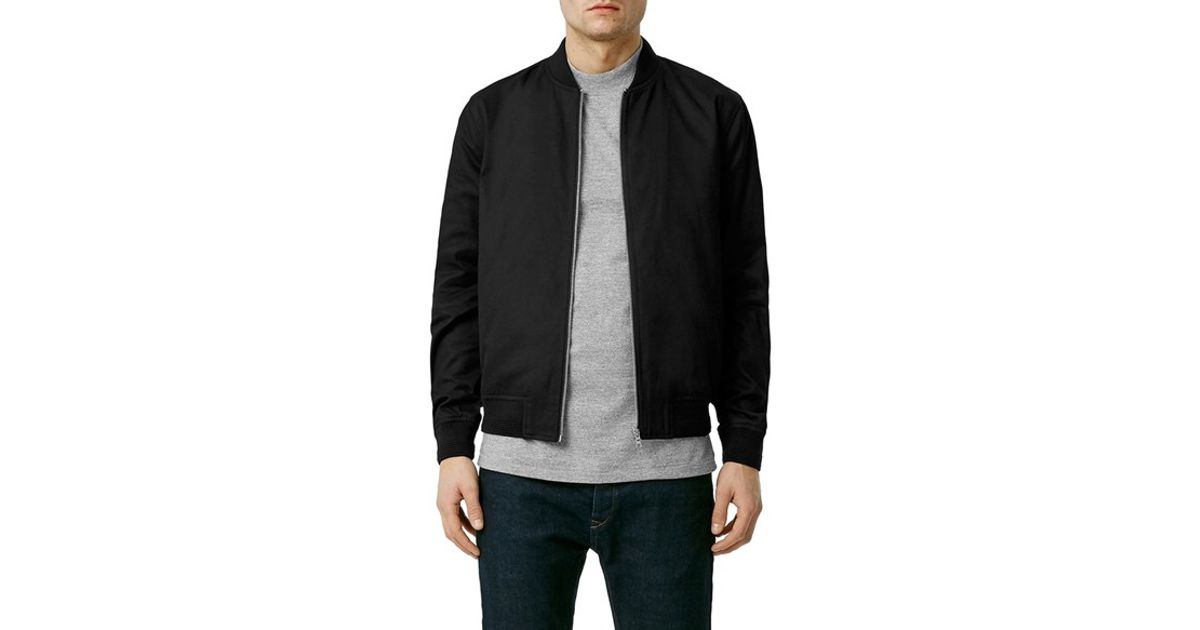 d837479da55a Lyst - TOPMAN Cotton Bomber Jacket in Black for Men