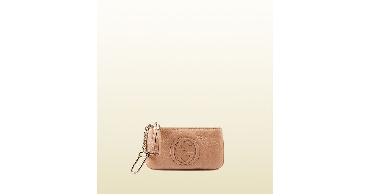Gucci Pink Soho Leather Key Case for men
