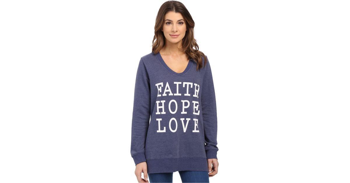ca1c2b1f14 Lyst - CJ by Cookie Johnson Faith Hope Love Sweatshirt in Blue