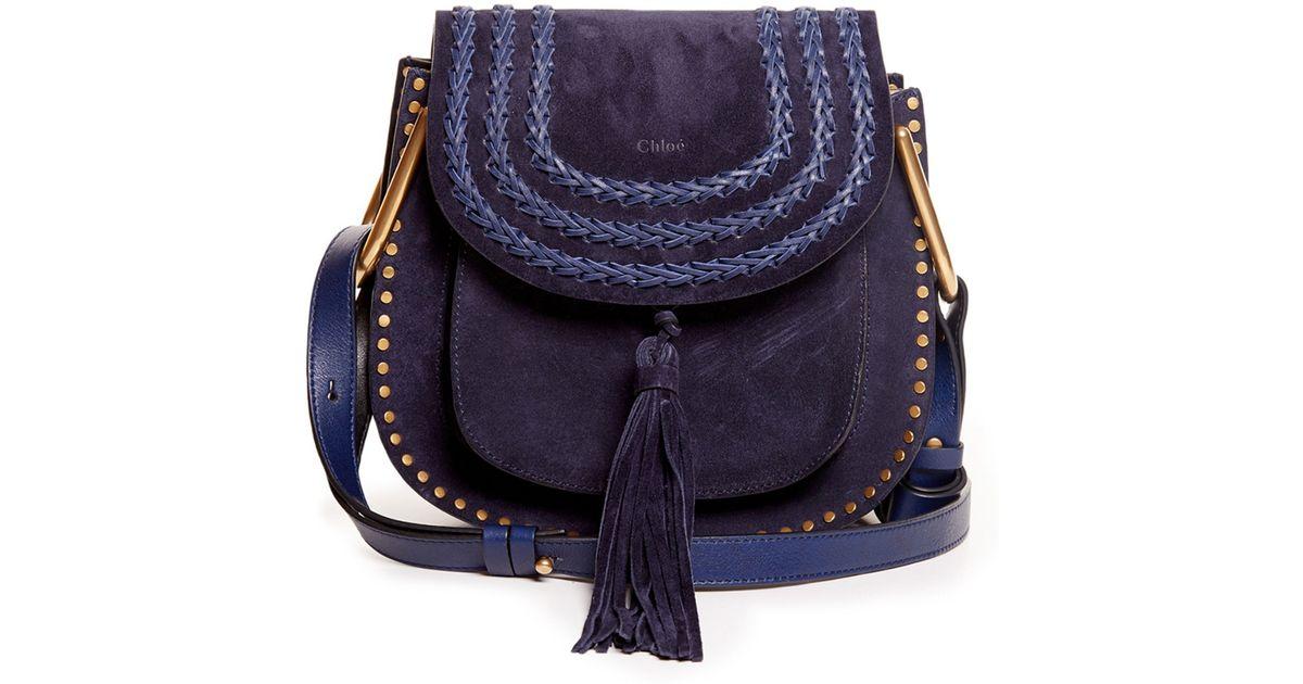 6874e60273 Chloé Blue Hudson Small Suede Cross-body Bag