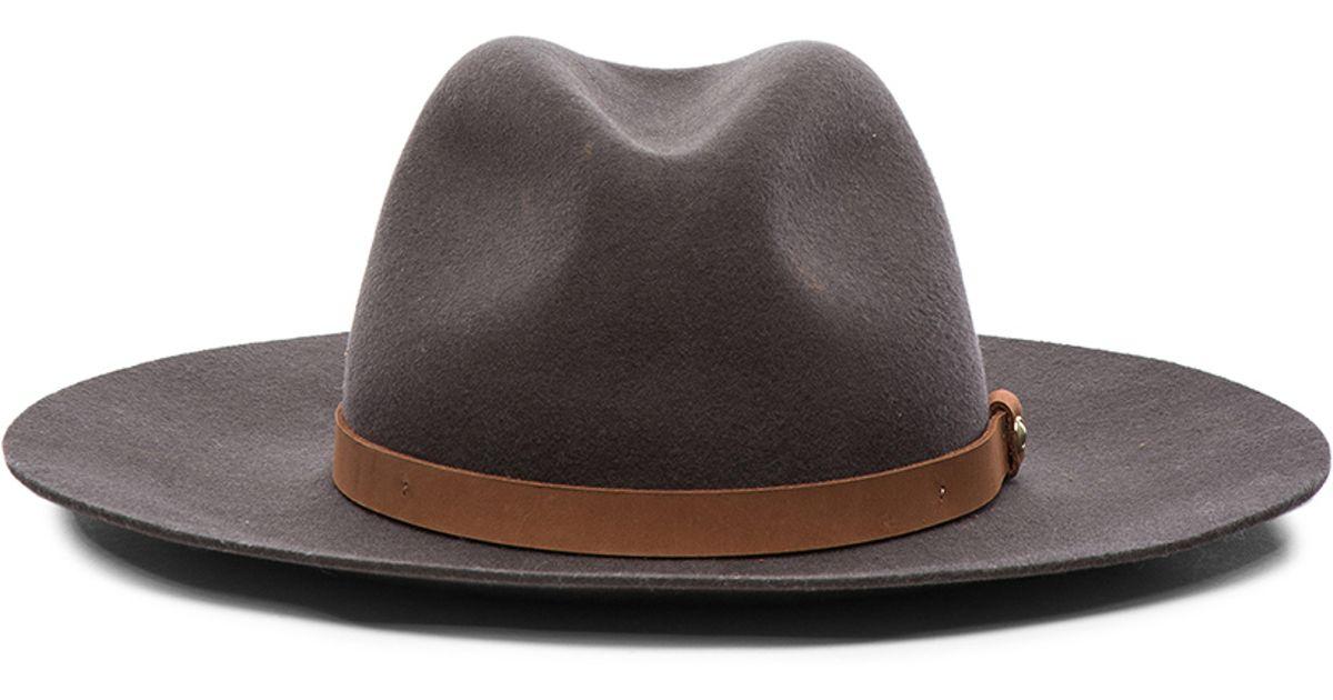 Lyst - Rag   Bone Wide Brim Fedora Hat in Gray 58343593bf6
