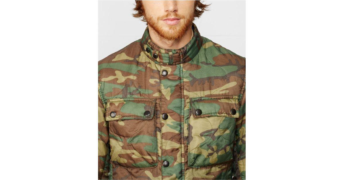 10ebe9e4232cb Denim & Supply Ralph Lauren Camo Motorcycle Liner Jacket in Green for Men -  Lyst