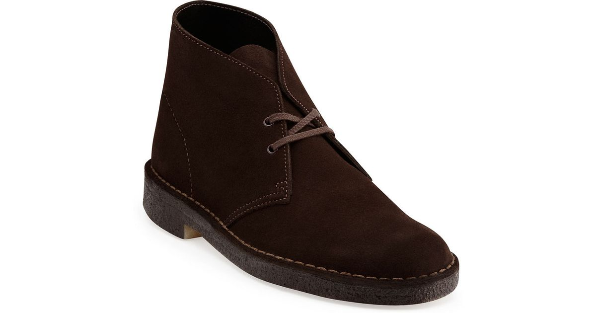 clarks desert suede chukka boots in brown for save 2