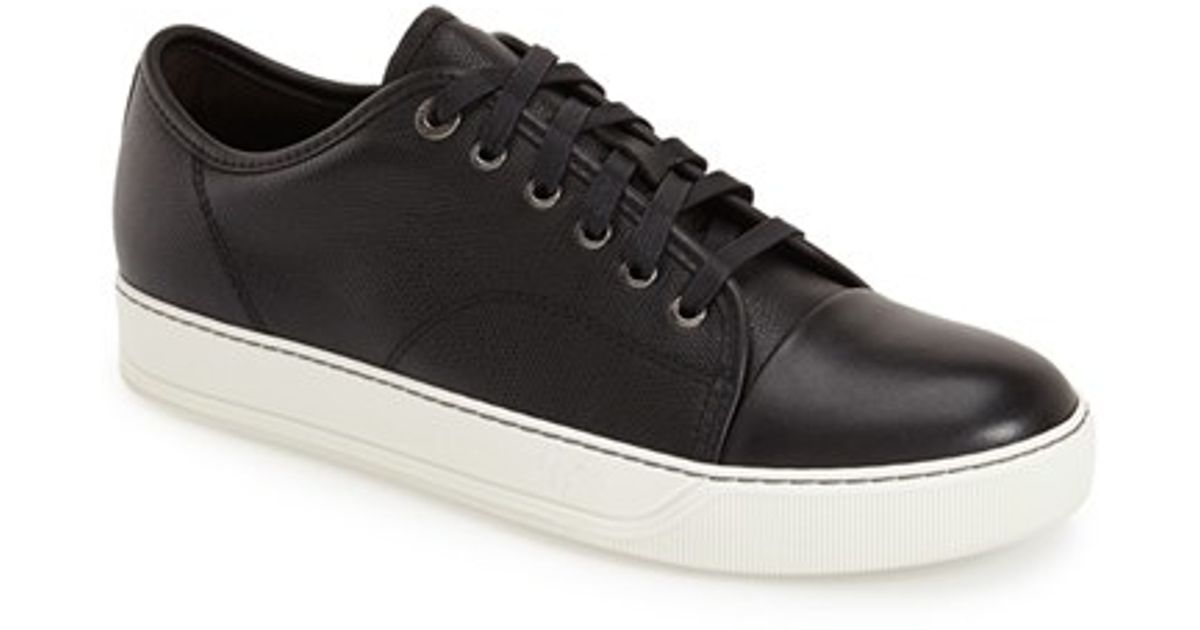 Lanvin Leather 'shiny' Cap Toe Sneaker
