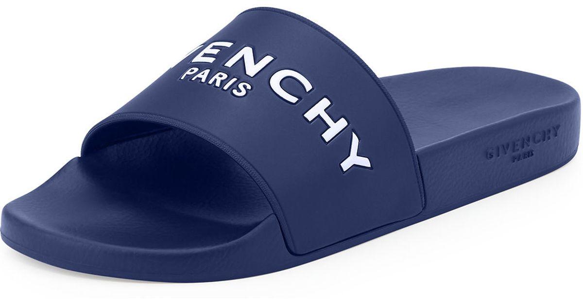 5069ef12cd7b Lyst - Givenchy Pool Slide Sandals in Blue for Men