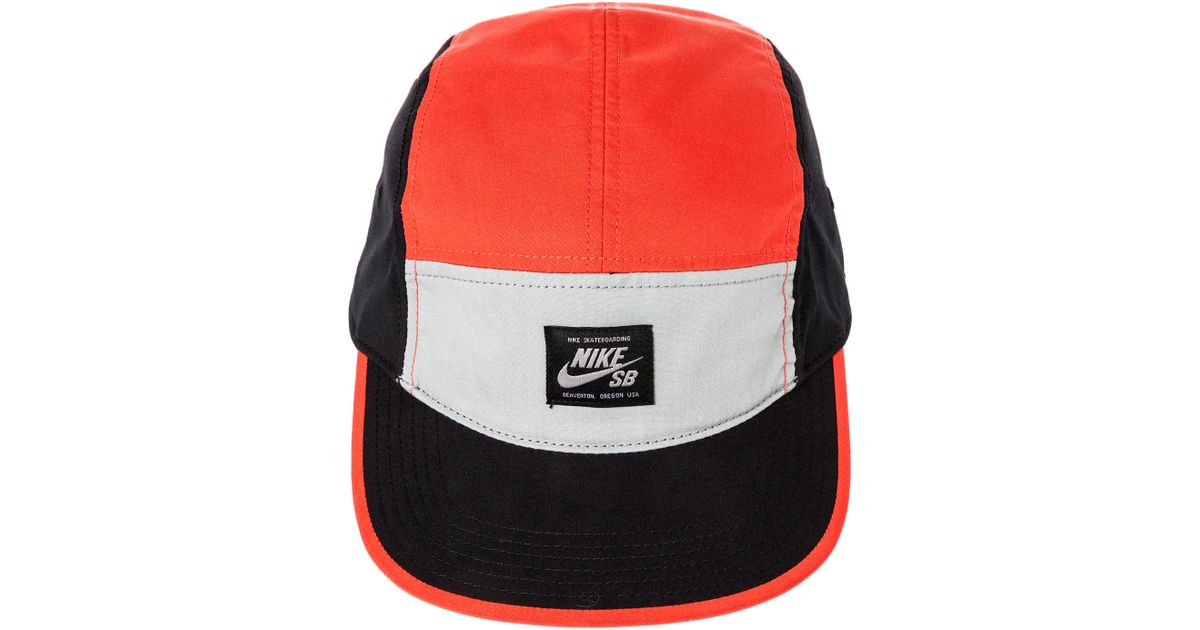 Lyst Nike The Blocked 5 Panel Hat In Red For Men 75527b3b4ab4